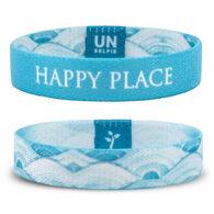 Unselfie Women's Happy Place Pattern Wrist Band