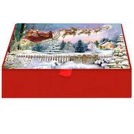 LPG Greetings Here Comes Santa Claus w/Keepsake Box Christmas Cards