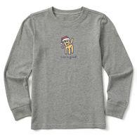 Life is Good Youth Rocket Santa Village Long-Sleeve Crusher Shirt