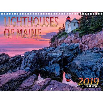 Maine Scene Lighthouses of Maine 2019 Wall Calendar