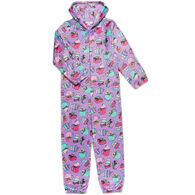 Candy Pink Girl's Hot Cocoa Pajama Onesie