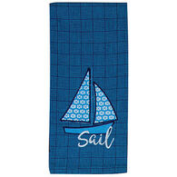 Kay Dee Designs Water's Edge Sail Applique Tea Towel