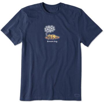 Life is Good Mens Dream Big Rocket Crusher Short-Sleeve T-Shirt