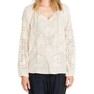 Johnny Was Women's Ivory Marrakesh Long-Sleeve Top