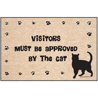 High Cotton Door Mat - Approved By Cat