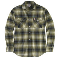 Carhartt Men's Rugged Flex Relaxed Fit Flannel Snap Front Plaid Long-Sleeve Shirt