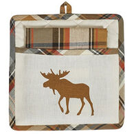 Park Designs Moose Pocket Pot Holder Set