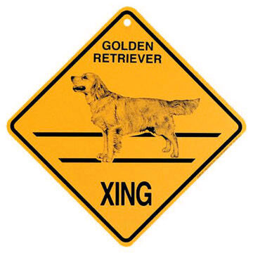 KC Creations Golden Retriever XING Sign