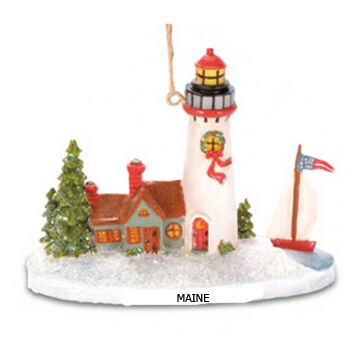 Cape Shore Resin Lighthouse W/ Sailboat Ornament