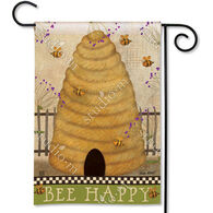 BreezeArt Bee Happy Garden Flag