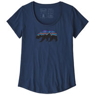 Patagonia Women's Fitz Roy Bear Organic Scoop Short-Sleeve T-Shirt