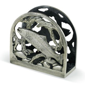Big Sky Carvers Trout Metal Napkin Holder