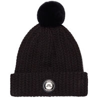 J. Lindeberg USA Women's Fur Ball Wool Blend Hat