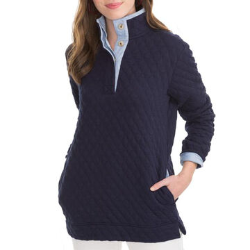 Southern Tide Womens Quilted Long-Sleeve Pullover