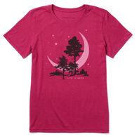 Life is Good Women's Big Crescent Cool Tee Short-Sleeve T-Shirt