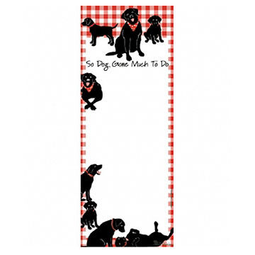 Hatley So Dog Gone Much To Do Magnetic List Notepad