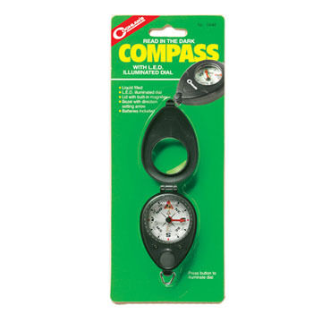 Coghlans Compass w/ LED Illuminated Dial