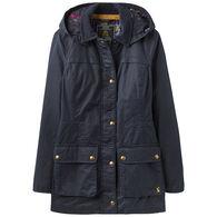 Joules Women's Daubenay Faux Wax Hooded Jacket