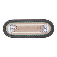 Capitol Earth Birdhouse Snowman Oval Patch Runner