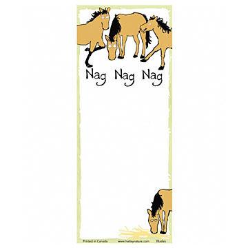 Hatley Nag, Nag, Nag Magnetic List Notepad