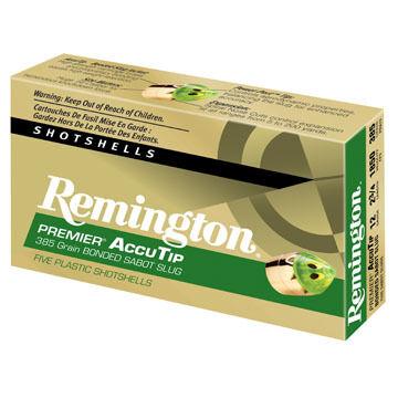 "Remington Premier AccuTip 12 GA 2-3/4"" 385 Grain Bonded Sabot Slug Ammo (5)"