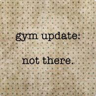 Paisley & Parsley Designs Gym Update Not There Marble Tile Coaster