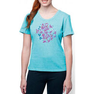 Earth Creations Women's Flowers and Dragonflies Better Than Before Scoop Short-Sleeve T-Shirt