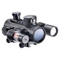 Barska 1x30mm Cross Dot Multi-Rail Electro Sight w/ Flashlight & Laser