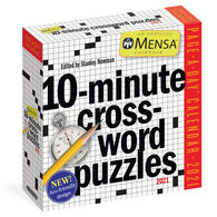 Mensa 10-Minute Crossword Puzzles 2021 Page-A-Day Calendar by Stanley Newman