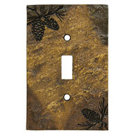 Big Sky Carvers Pinecone Single Switch Plate Cover