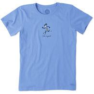 Life is Good Women's Running Jackie Vintage Crusher Short-Sleeve T-Shirt