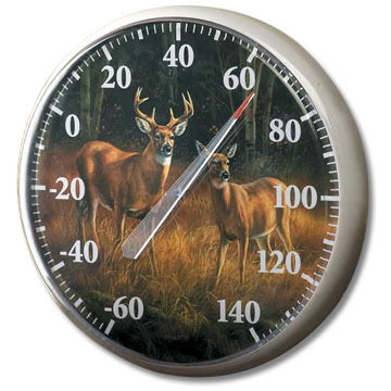 Wild Wings Whitetail Deer Outdoor Thermometer