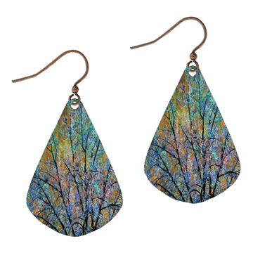 Illustrated Lights Womens DC Designs Trees Teardrop Earring