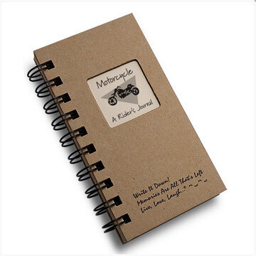 """Journals Unlimited """"Write it Down!"""" Mini-Size Motorcycle Journal"""