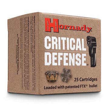 Hornady Critical Defense 380 Automatic 90 Grain FTX HP Handgun Ammo (25)