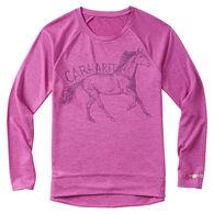 Carhartt Infant/Toddler Girls' Tonal Horse Long-Sleeve Bodyshirt