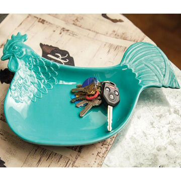 Manual Woodworkers & Weavers Ceramic Rooster Plate