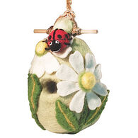 Wild Woolies Lady Bug Hand-Felted Birdhouse
