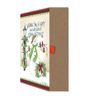 LPG Greetings A Happy and Blessed Christmas w/Keepsake Box Christmas Cards