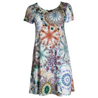 Salaam Women's Cap Sleeve Lucy Print Tunic Dress
