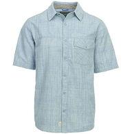 Woolrich Men's Zephyr Ridge Solid Cotton Short-Sleeve Shirt