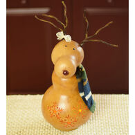 Meadowbrooke Gourds Dash Small Tall Lit Girl Reindeer Gourd
