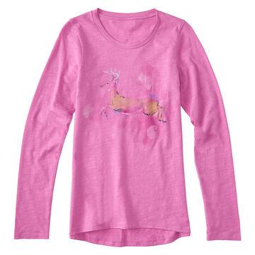 Carhartt Girls Forest Deer Long-Sleeve T-Shirt
