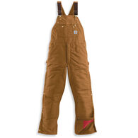 Carhartt Men's Duck Zip-to-Thigh Quilt-Lined Bib Overall
