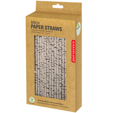Kikkerland Paper Straws - Birch Design