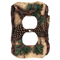 Rivers Edge Pine Cone Double Outlet Cover