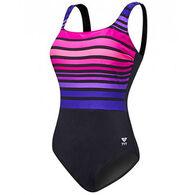 Tyr Sport Women's Ombre Stripe Aqua Controlfit Swimsuit