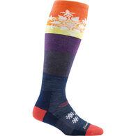 Darn Tough Vermont Women's Snowflake Over-The-Calf Mid Cushion Ski/Board Sock