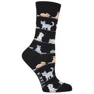 K. Bell Women's Cats Crew Sock