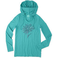 Life is Good Women's Daisy Hooded Smooth Long-Sleeve T-Shirt